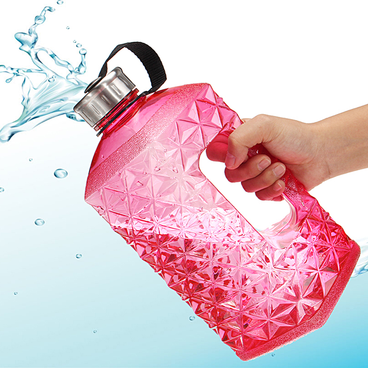 2.2L Sports Large Capacity Water Bottle Gym Fitness Kettle Camping Bicycle Water Storage Tools