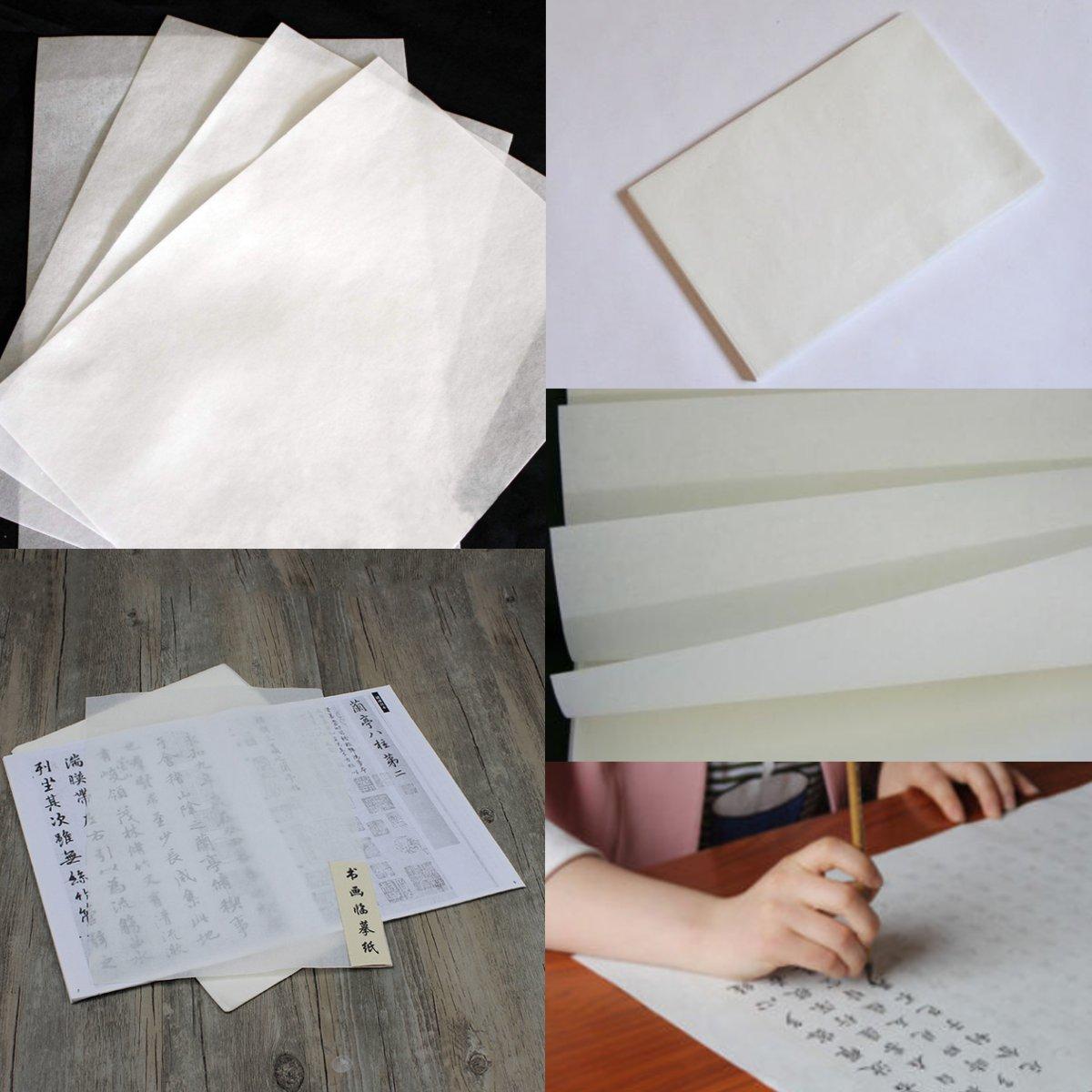 Image of 10 Blätter Chinesische Kalligraphie Reis Xuan Papier Sumi-e Zeichnung Hohe Tinte Absorption