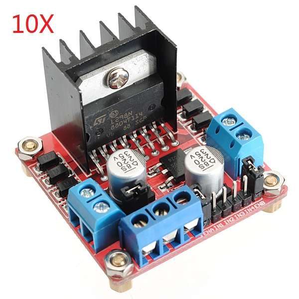 10 Pcs Geekcreit® L298N Dual H Bridge Stepper Motor Driver Board For Arduino
