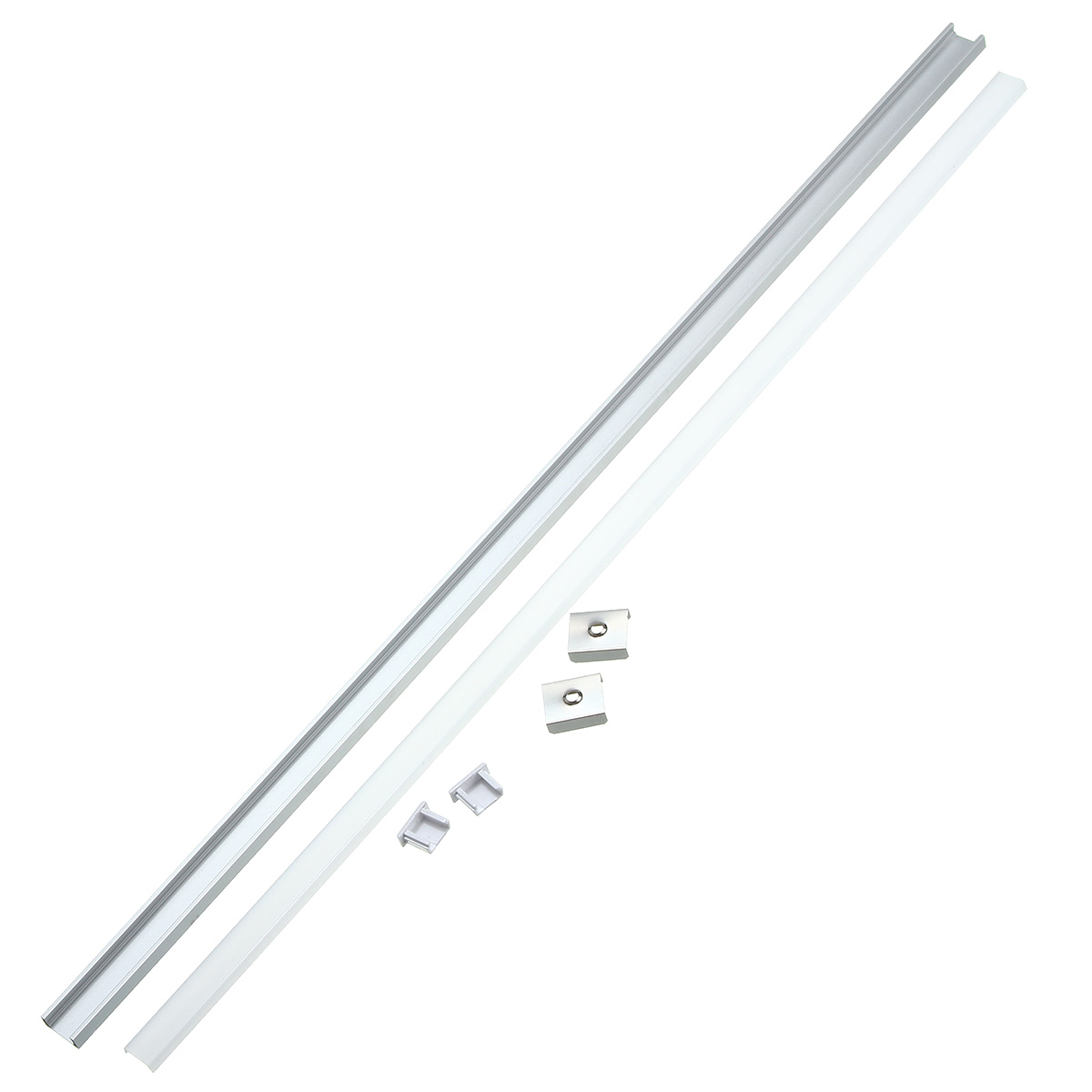 30/50CM XH-U1 U-Style Aluminum Channel Holder For LED Strip Light Bar Under Cabinet Lamp Lighting