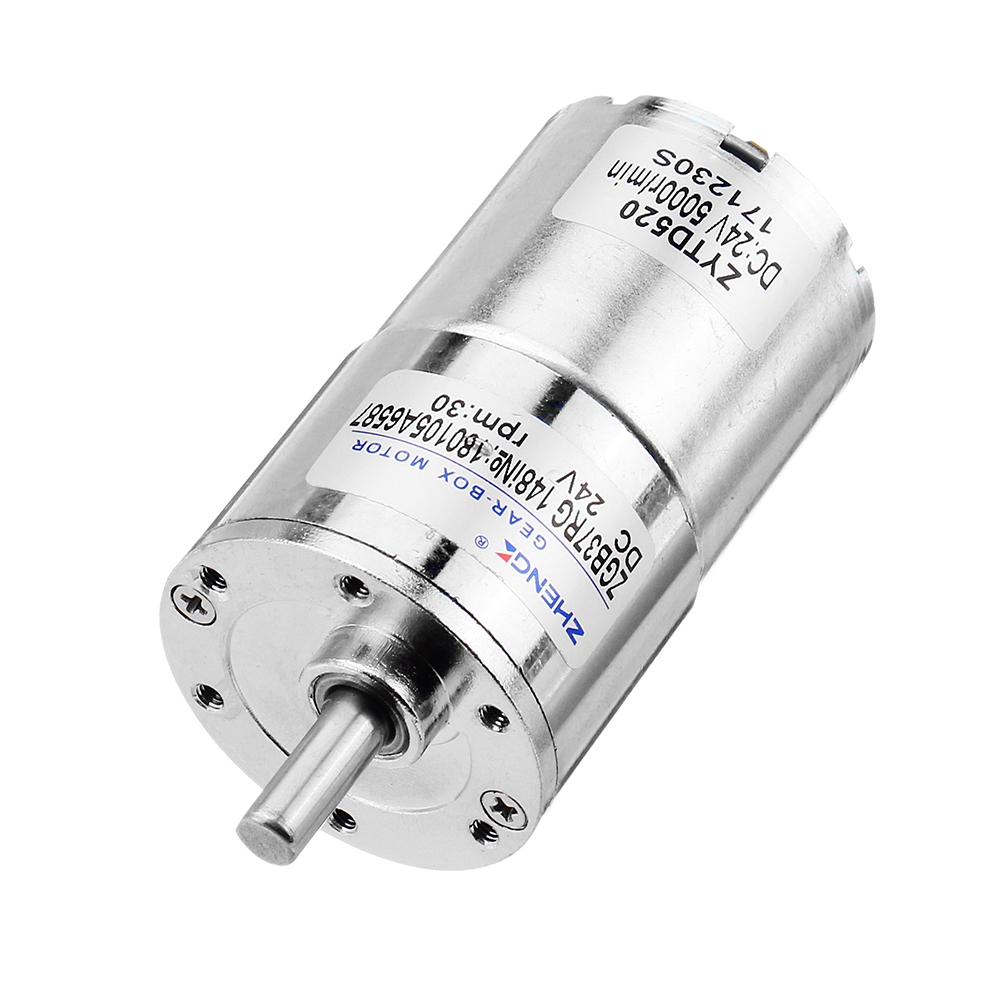 Zhengke ZGB37RG 24V 40rpm DC Gear Motor Reduction Motor