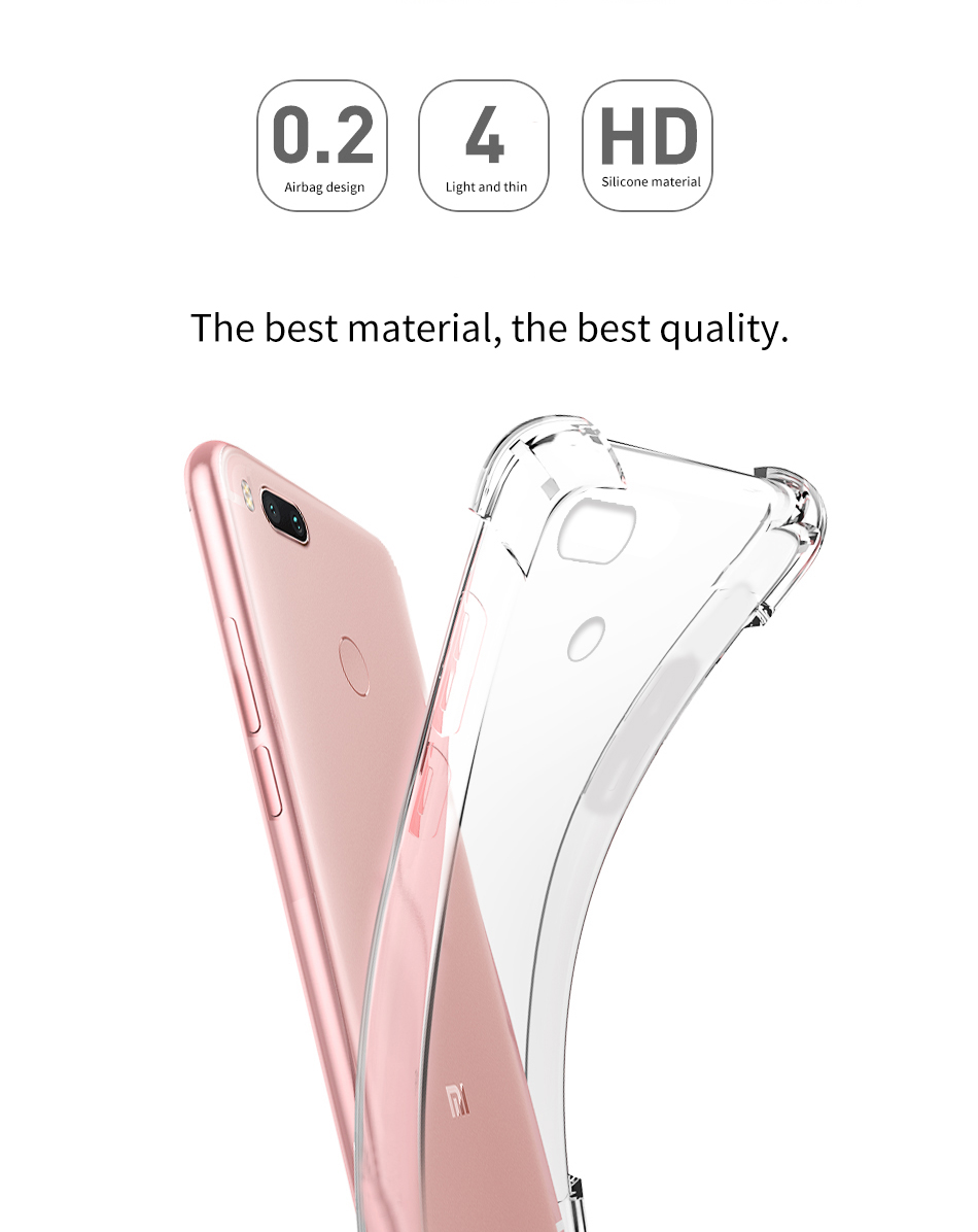 Bakeey Ultra Thin Transparent Soft TPU Drop-resistance Back Case For Xiaomi Mi5X Mi 5X/ Mi A1