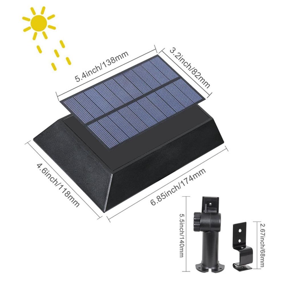 Solar 30 Led Pir Motion Sensor Outdoor Yard Gutter Garden