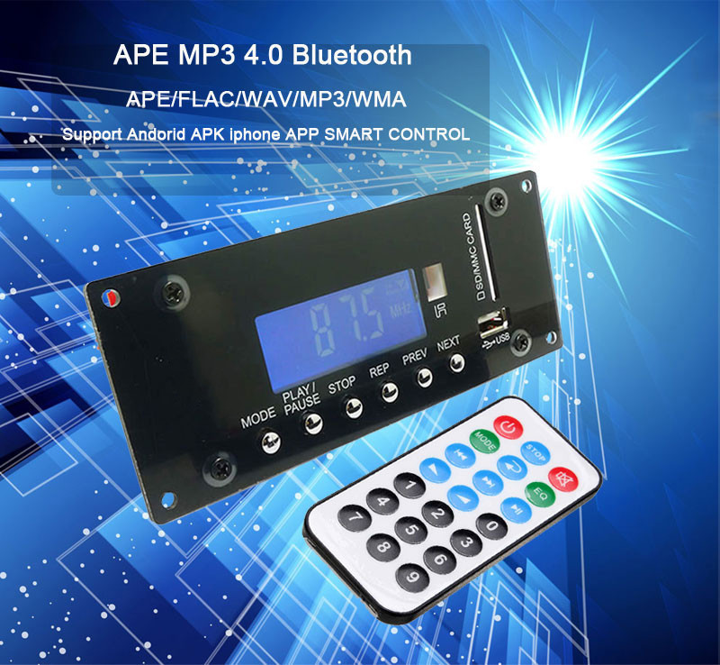 Wireless MP3 Decoding Board bluetooth Audio Module USB SD Radio APE FLAC WMA AUX