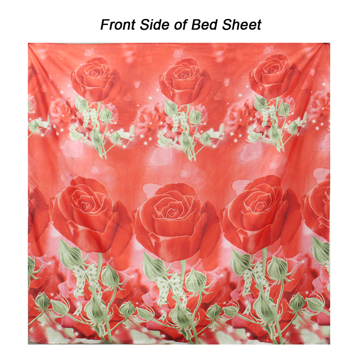 4Pcs 3D Rose Printed Bedding Sets Quilt Cover Bed Sheet Pillowcases Duvet Cover