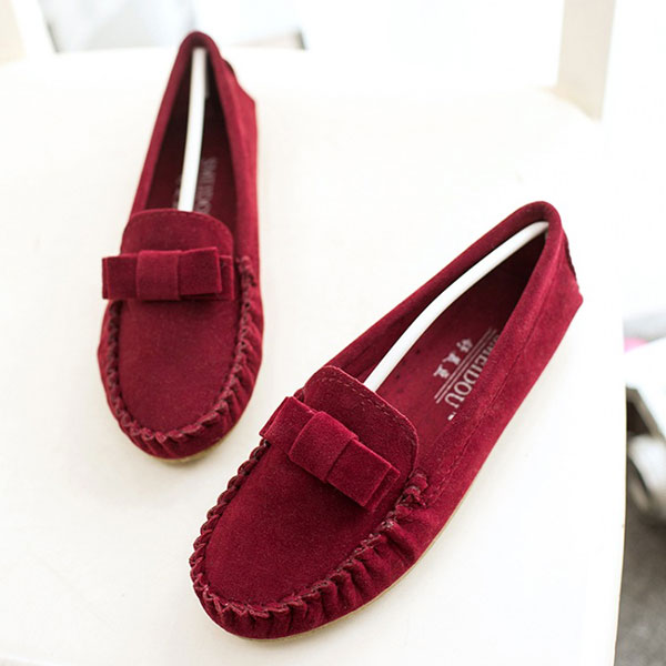 New Women Comfortable Flats Casual Soft Slip-on Suede Fashion Flat Loafers Shoes