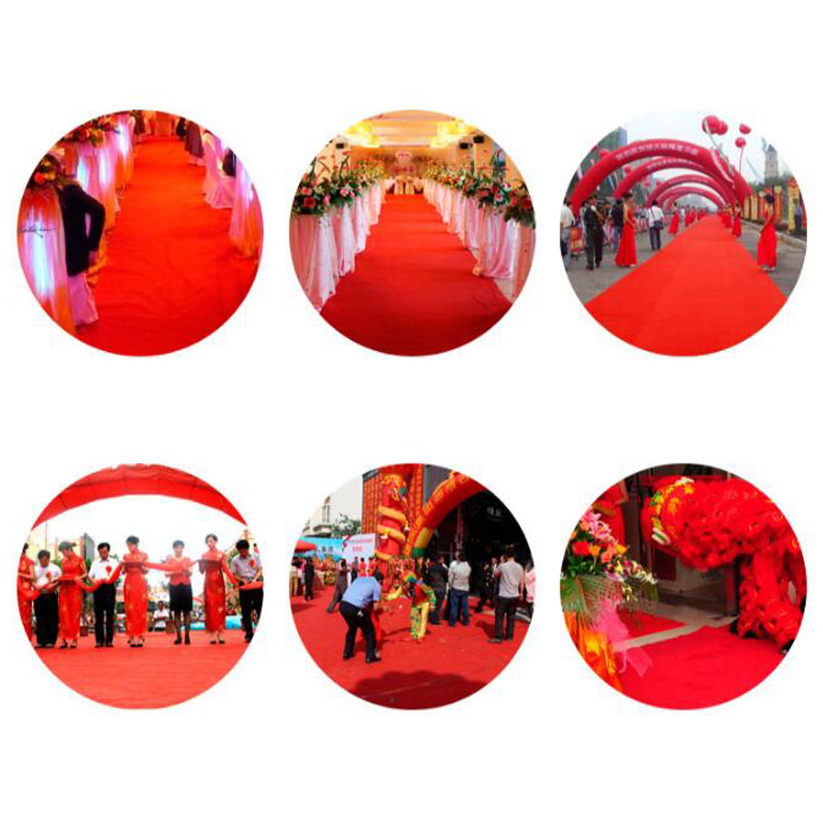 10m/15m VIP Red Carpet Runner Party Decoration Wedding Aisle Floor Disposable Entrance Scene Carpet