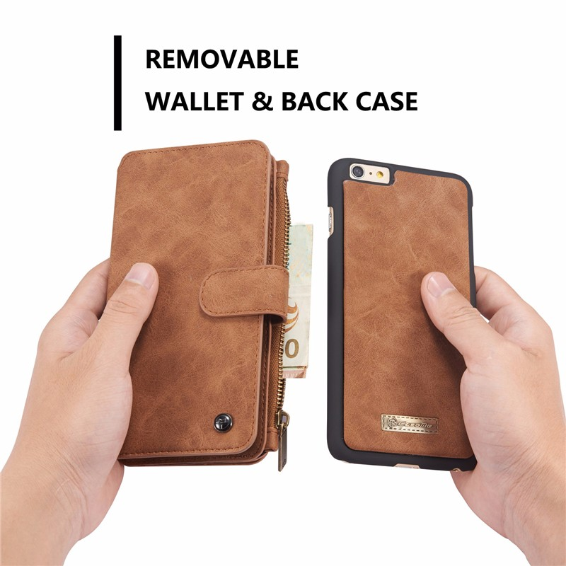 Caseme Detachable Zipper Wallet Case For iPhone 6 Plus & 6s Plus