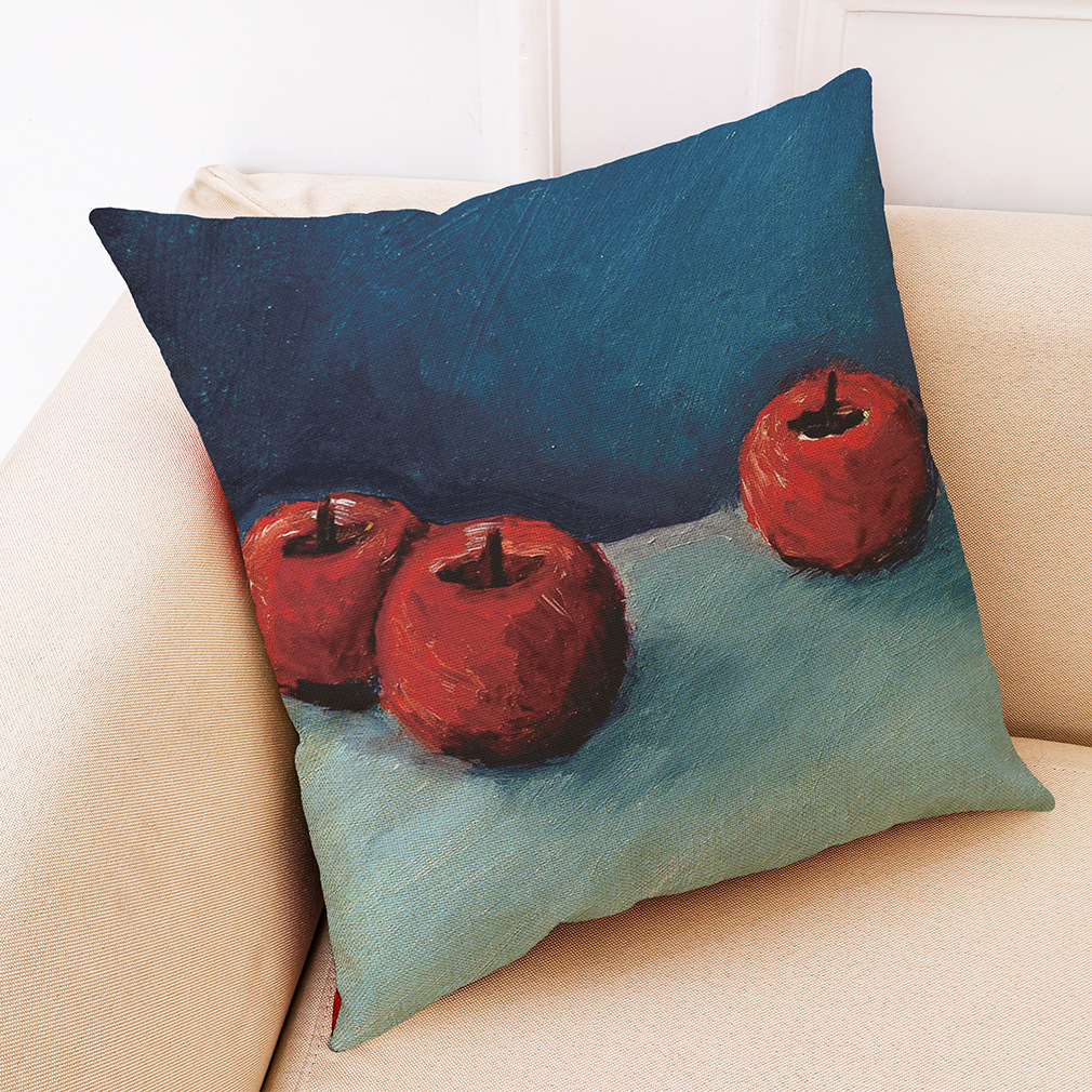 Honana BX Fruit Oil Painting Luxury Cushion Cover Graffi Style Throw Pillow Case Pillow Covers