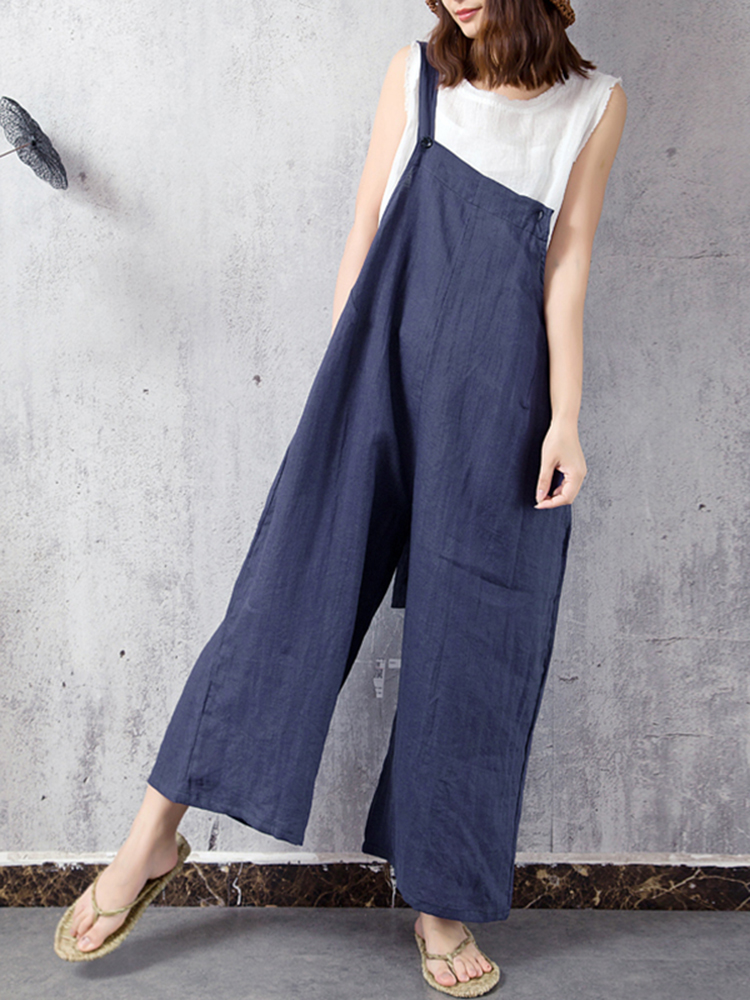 Casual Women Wide Leg Jumpsuit