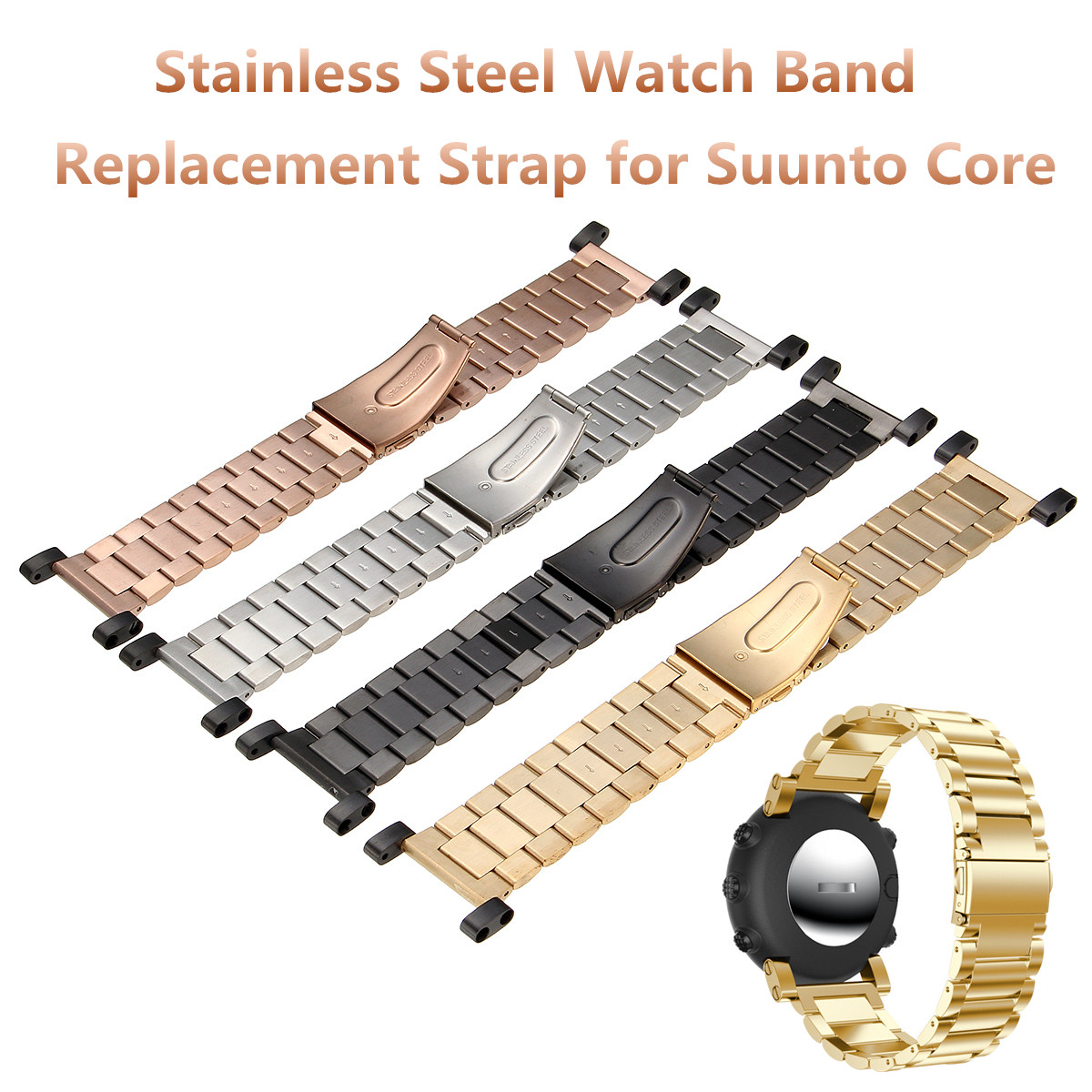 Replacement Stainless Steel Wristband Band Strap Bracelet For Suunto Core Series