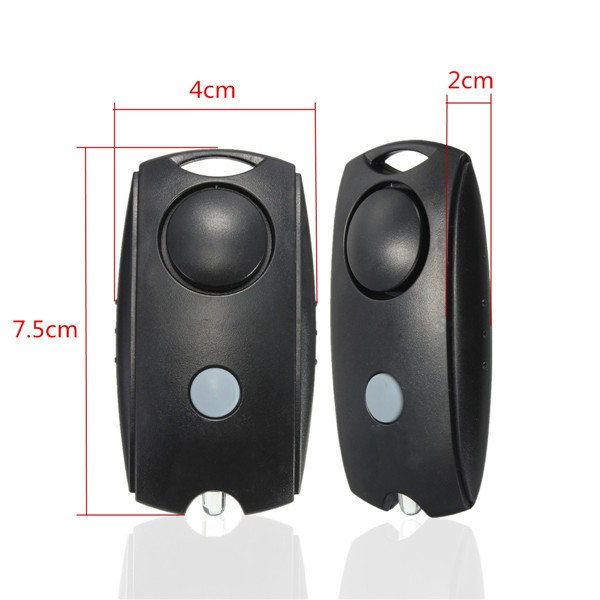 Loud Personal Protection Panic Rape Fear Attack Safety Security Alarm with Torch