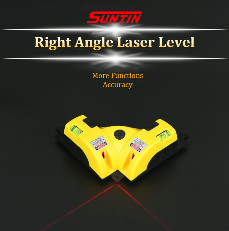 SUNTIN 01 90 Degree Laser Right Angle Ruler Suction Cup Laser Marking Instrument Triangle Level Ruler