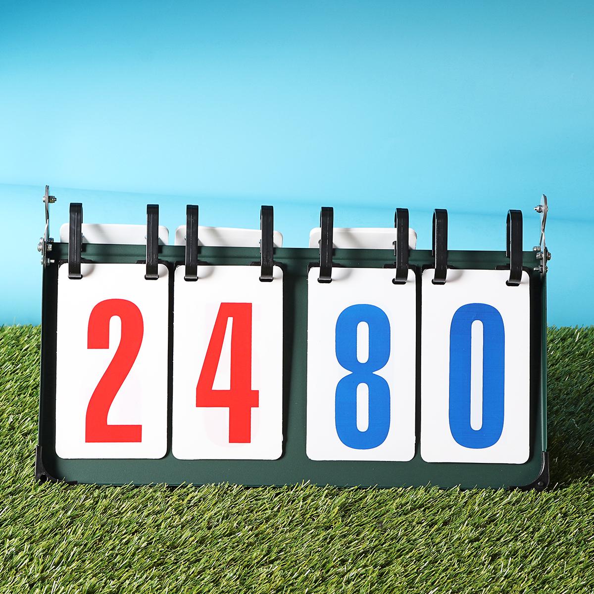 4/6DigitScorebordSeparatorDraagbaresportwedstrijd Voetbal Basketbalspel Rechter Flip Score Bord