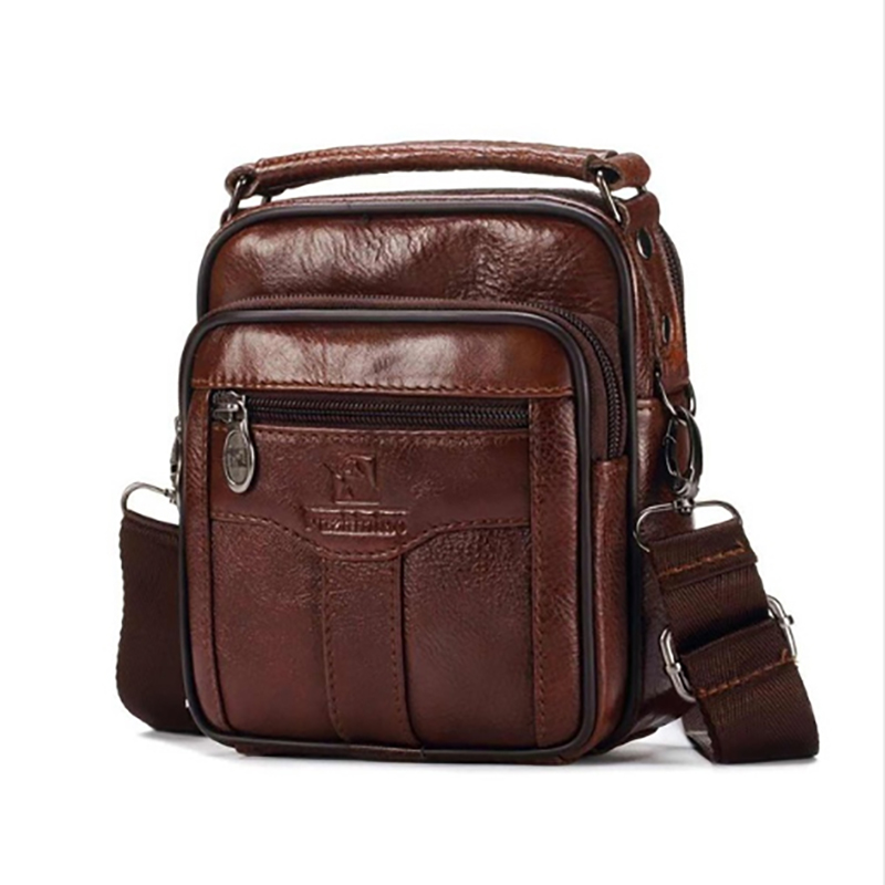 Men Genuine Leather Messenger Bags Handbags