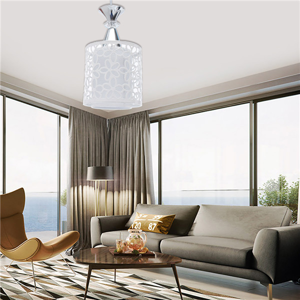 E27 Modern Crystal Iron LED Ceiling Light Fixtures Chandelier Pendant Lamp for Dining Room Kitchen