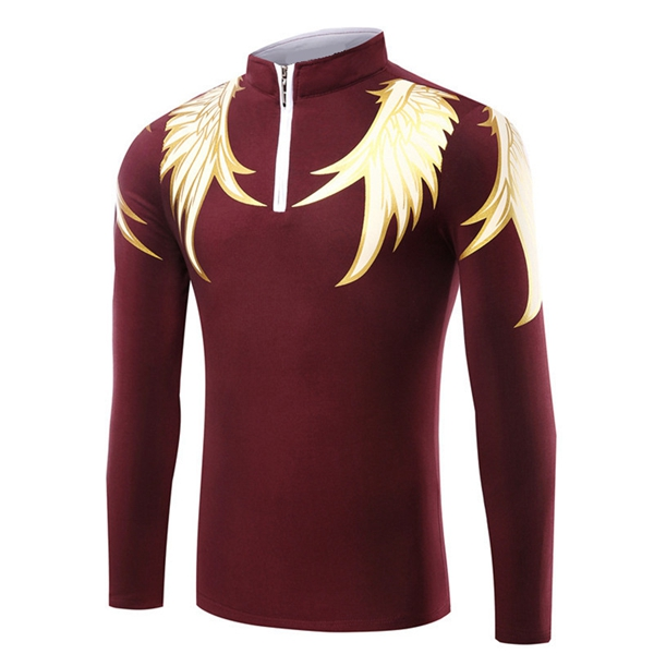 Fashion Wings Printed Mens Long Sleeve T-Shirts