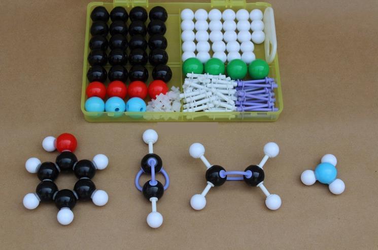 136Pcs Chemistry Molecular Structure Model Kit General & Organic Chemistry Atom Bonds Molecules Medical Set