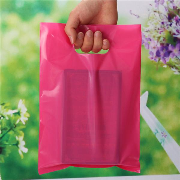 50pcs Rose Red Shopping Bag Packing Bags 20-40cm