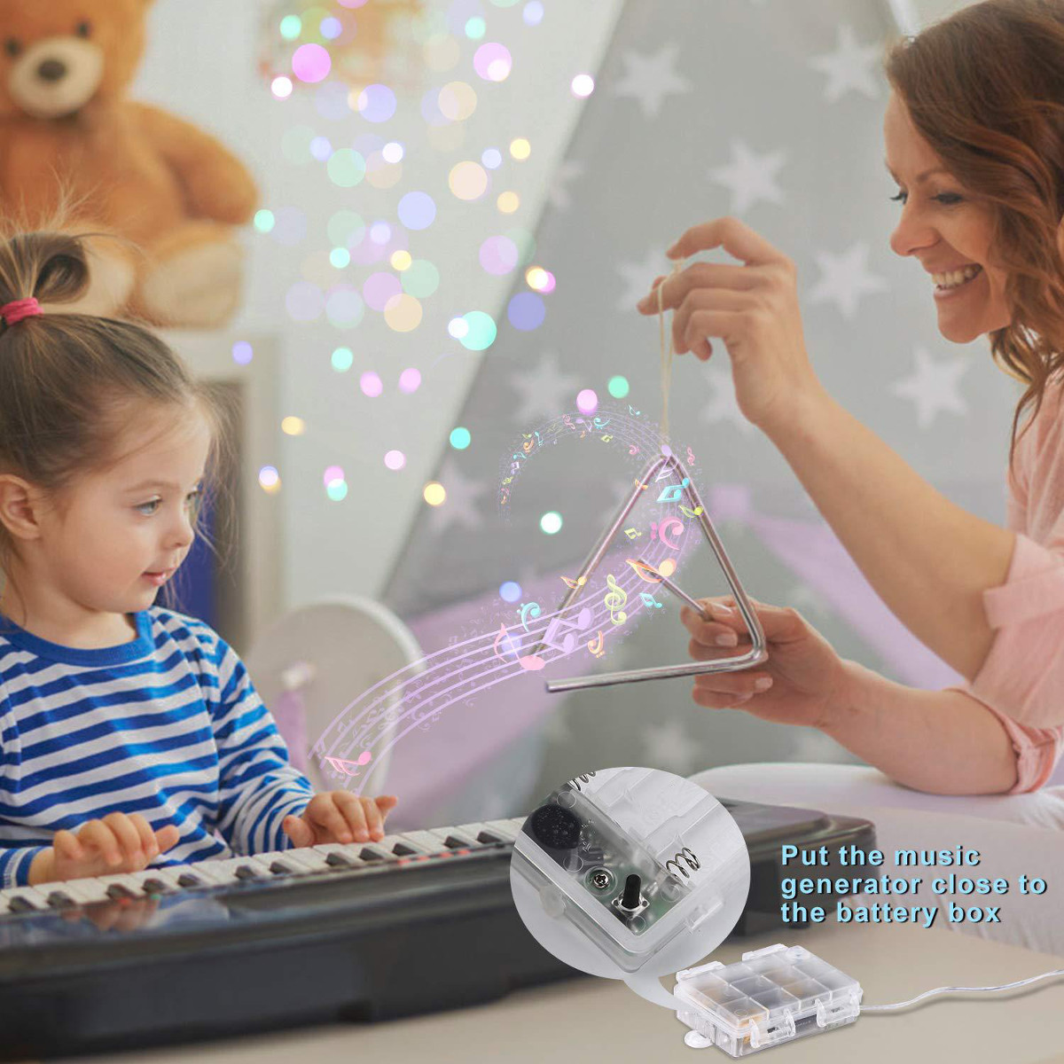 Battery Powered Voice-activated 5M 10M LED Christmas Party Fairy String Holiday Light Indoor Decor