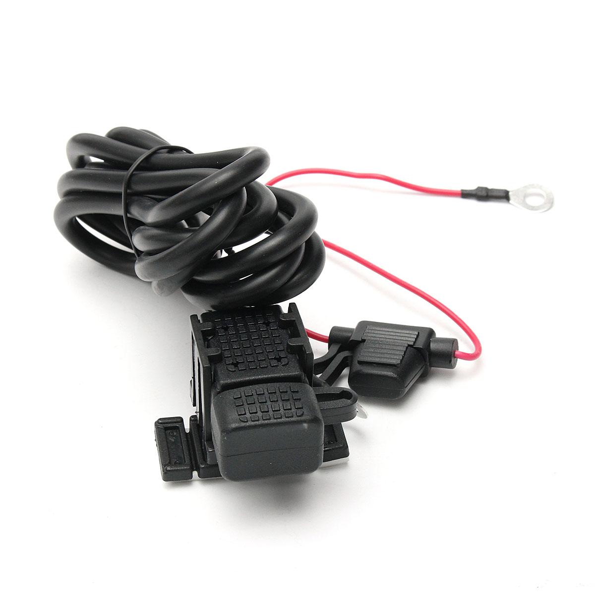 12V Waterproof Motorcycle Car Plug Socket USB Charger Adapter