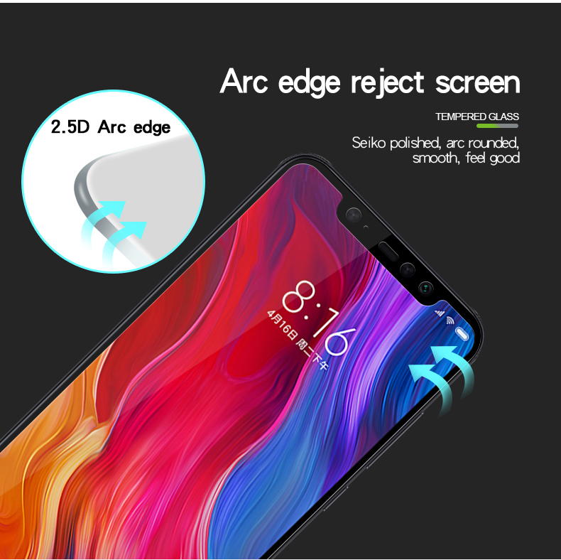 Mofi Diamond 9H Anti-Explosion Full Screen Tempered Glass Screen Protector for Xiaomi Pocophone F1