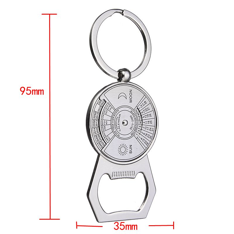 Multifunction Keychain Bottle Opener 2010 to 2060 Calendar Metal Key Chain