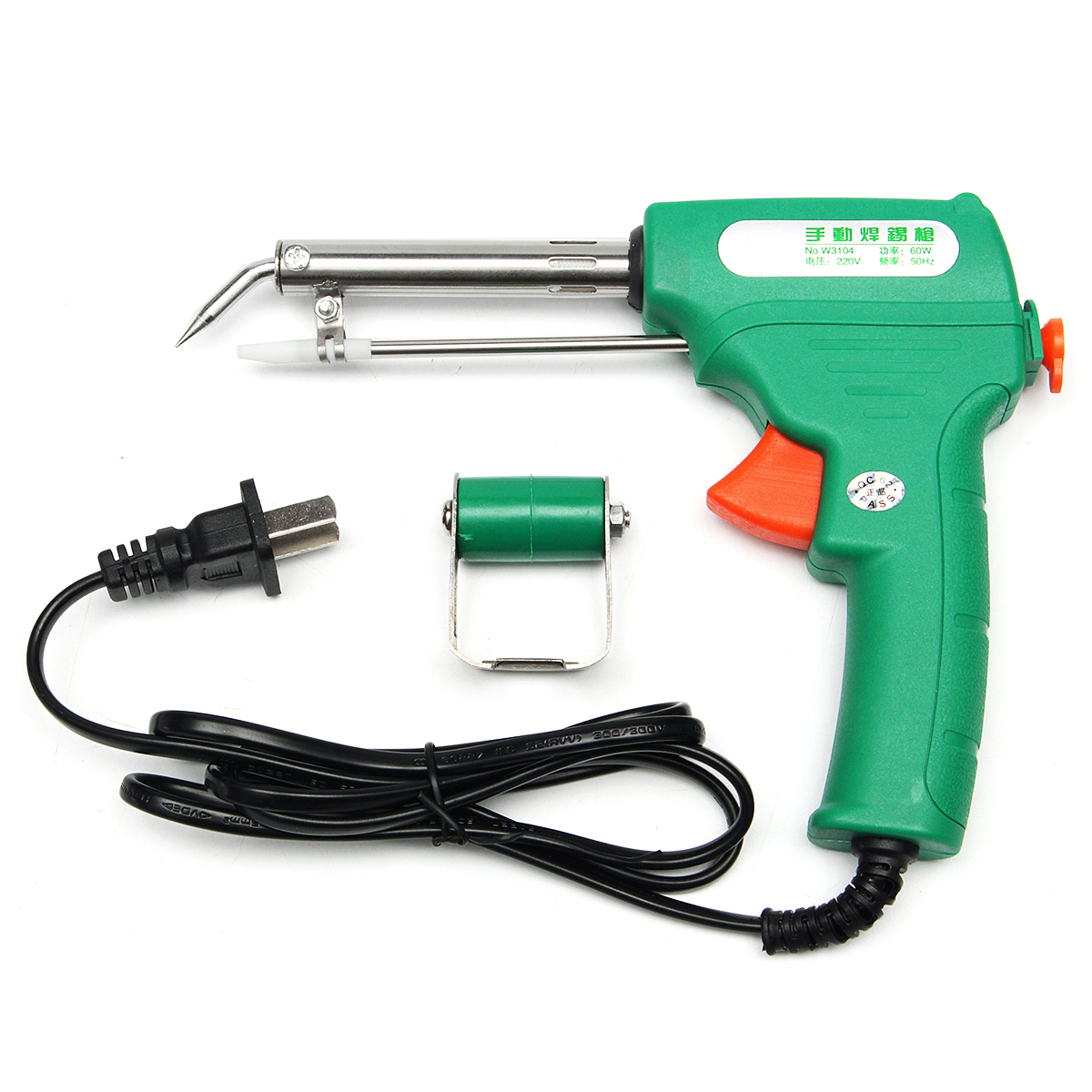 220V 60W Auto Electric Mini Metal Welding Soldering Iron Solder Tool + Tin Stent
