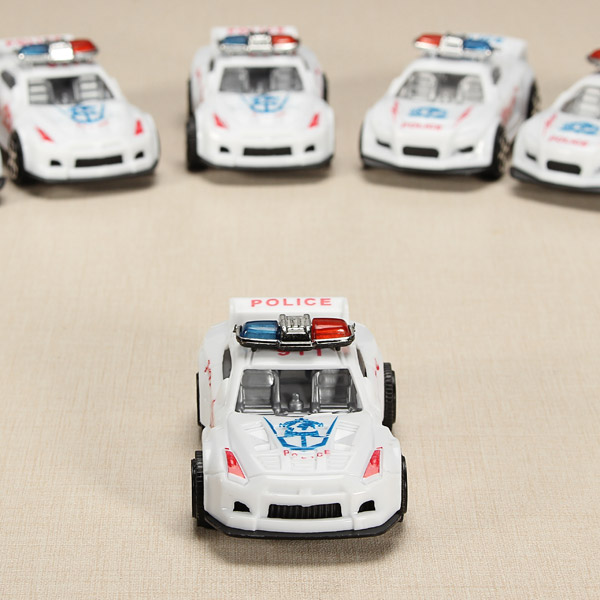 12xHZ Slide Racing Car Toys with Light Police Car Color Random