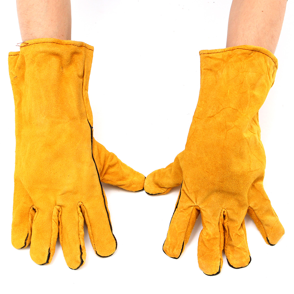 Welders Welding Work Soft Cowhide Leather Plus Gloves for Protecting Hand