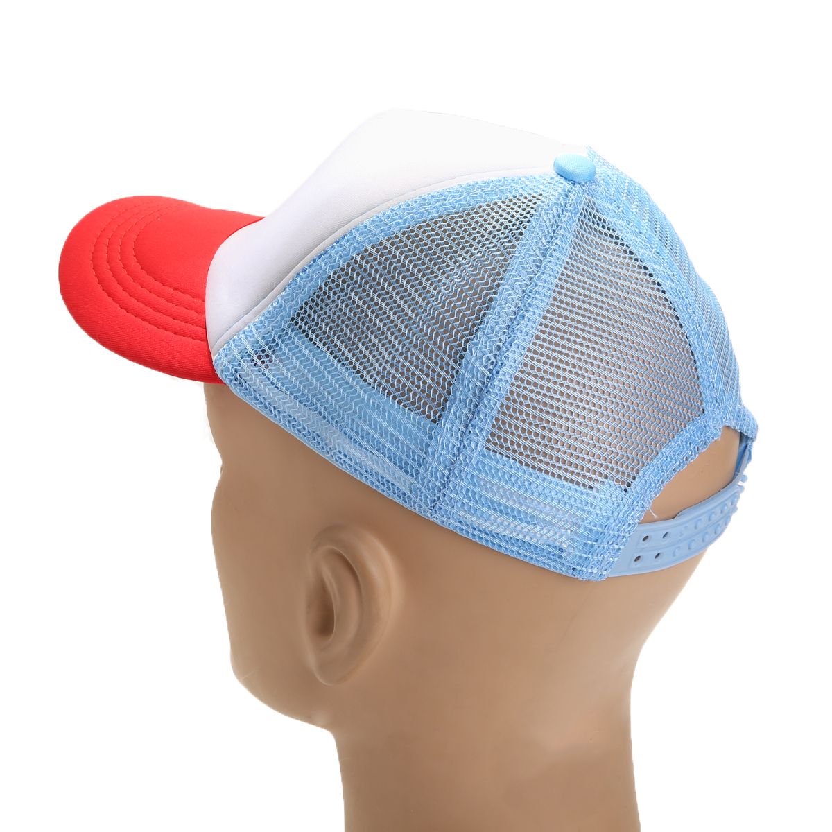 Adult Kids Children Red White Blue Adjustable Baseball Cap Outdoor Activity Sunscreen Sun Hat