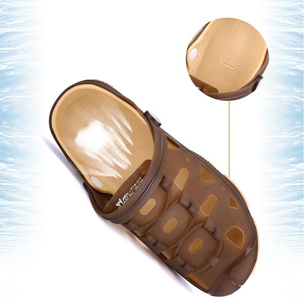 Men Beach Slipper Hollow Out Outdoor Summer Sandals