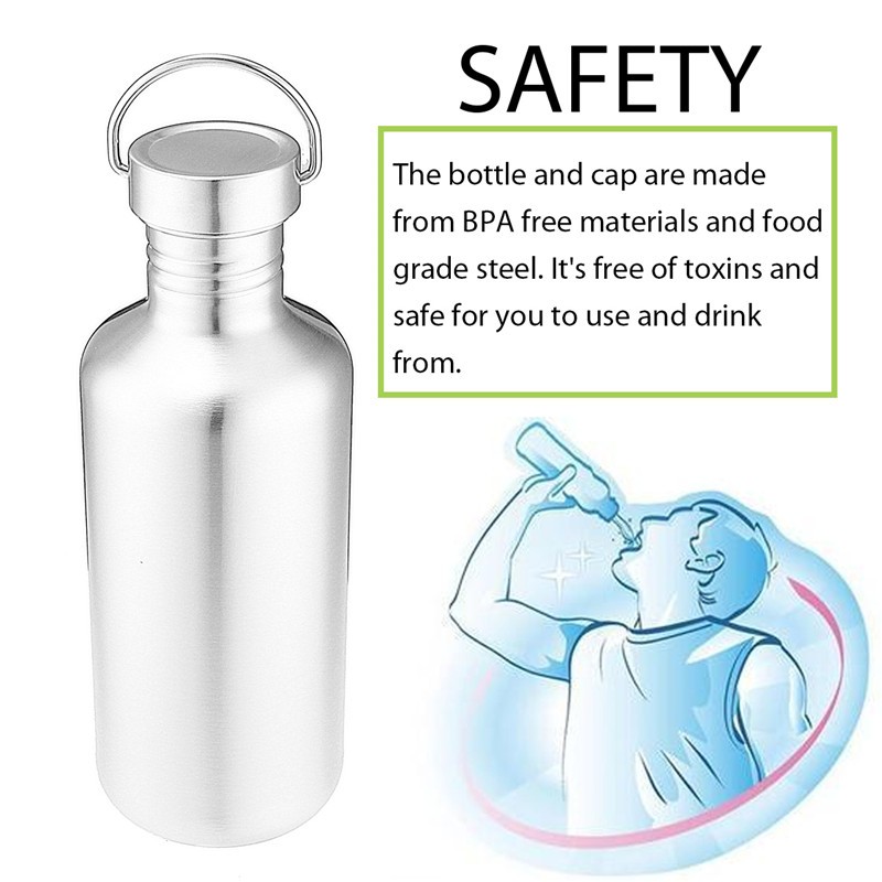 Stainless Steel Water Bottle Travel Outdoor Yoga Camping Hiking Cycling Water Bottle Cup
