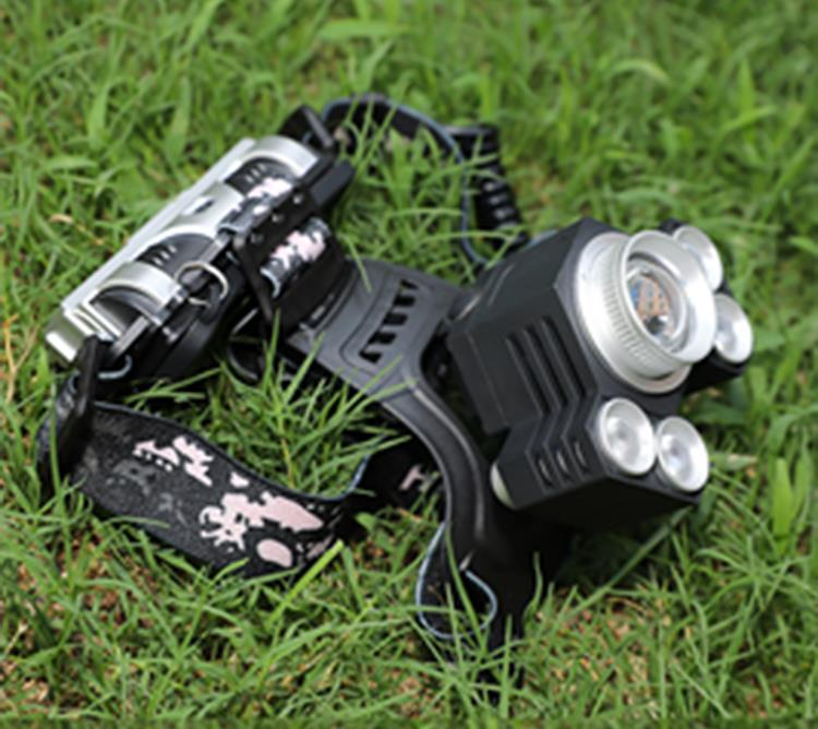 XANES 2408 1600LM Bicycle Headlamp 4 Switch Modes T6+4XPE White Light Mechanical Zoom Lightlamp