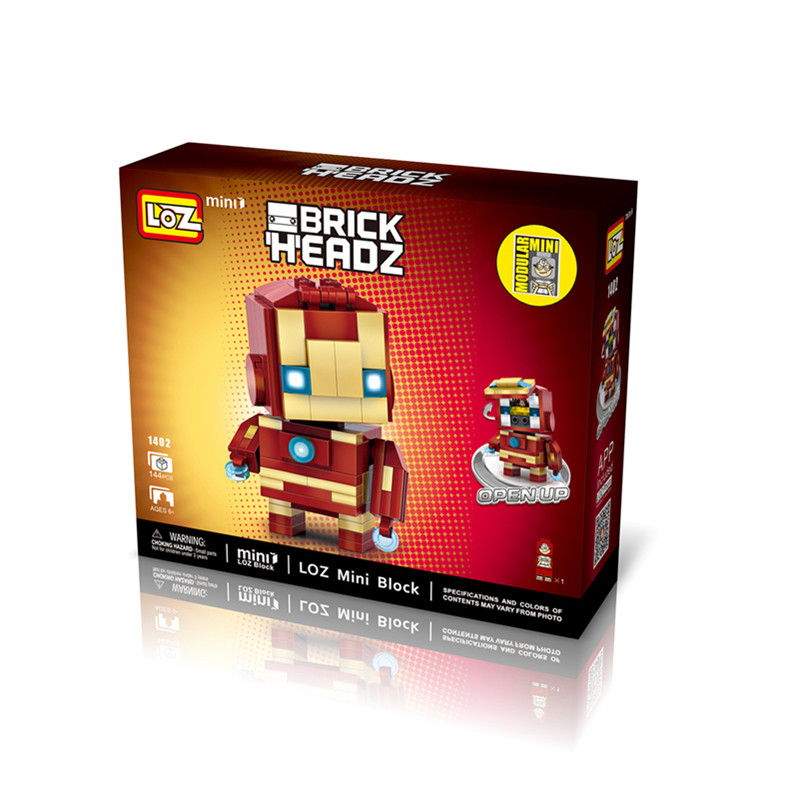 LOZ 1402 Super HeroToy 144PCs Blocks Collection Gift Small Bricks