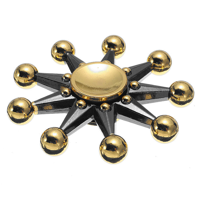 Zinc Aolly Night Leaves Rotating Fidget Hand Spinner ADHD Autism Reduce Stress Focus Attention Toys