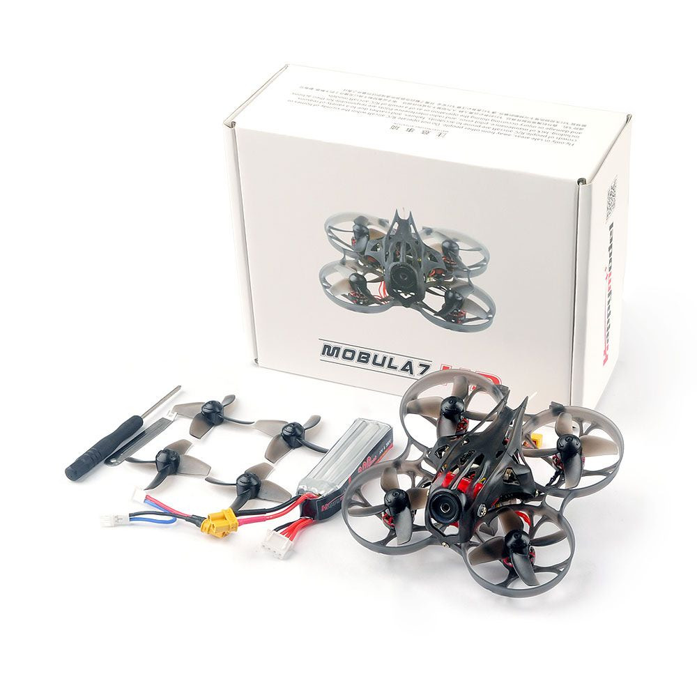 Happymodel Mobula7 HD 2-3S 75mm Crazybee F4 Pro CineWhoop FPV Racing Drone PNP BNF w/ CADDX Turtle V2 HD Cam