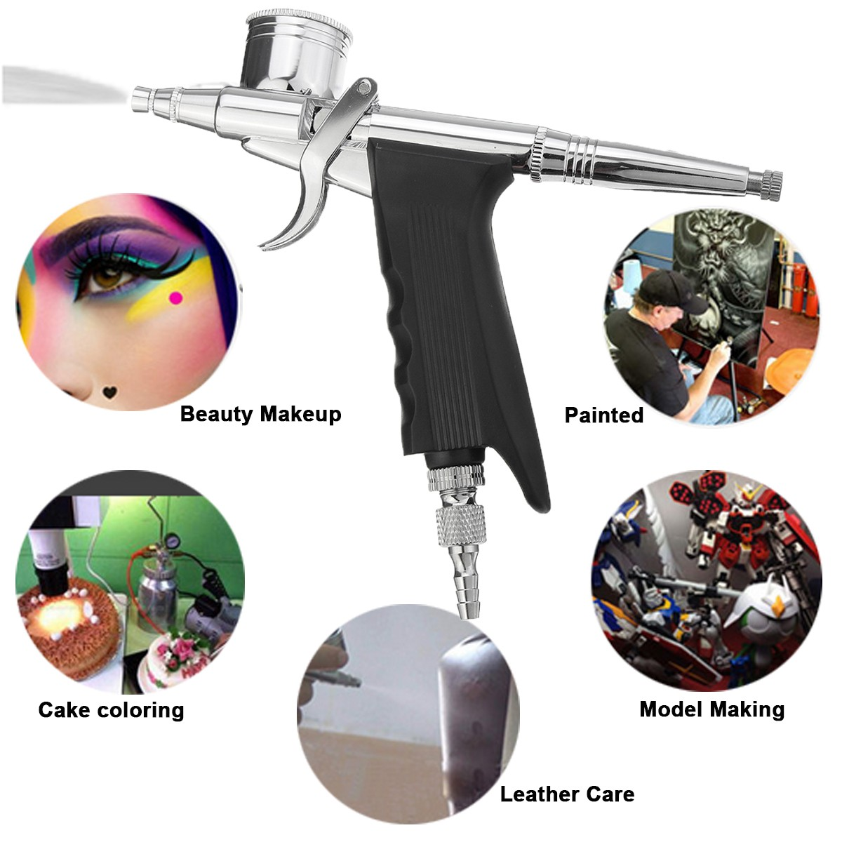 Dual Action 0.3mm 7cc and 11cc Airbrush Spray Gun Airbrush for Model Paint Tattoo