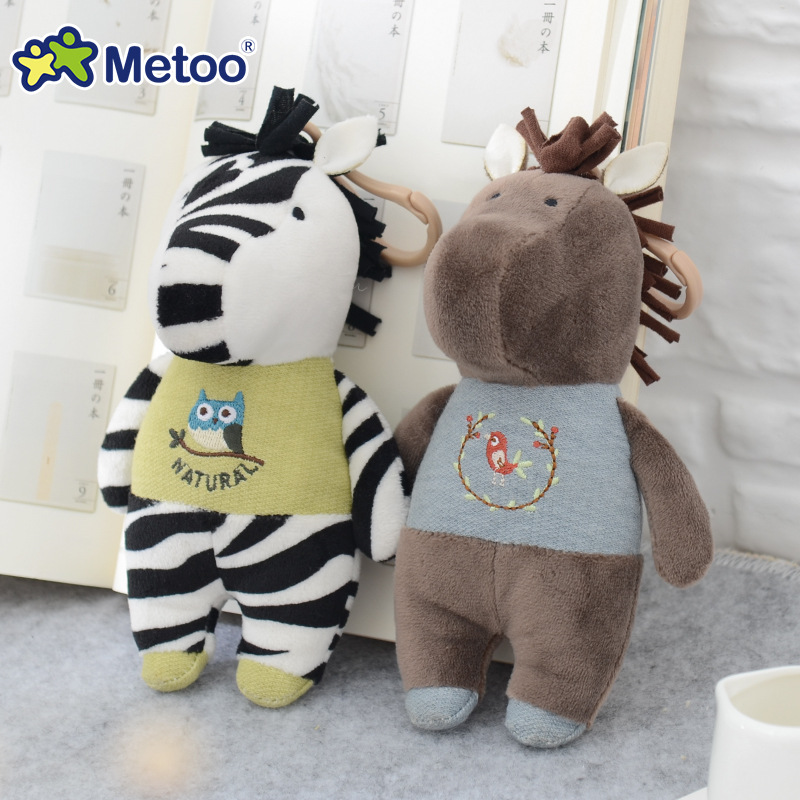 Metoo Horse Zebra Lamb Plush Doll Backpack Strap Accessories Key Chain Creative Gift