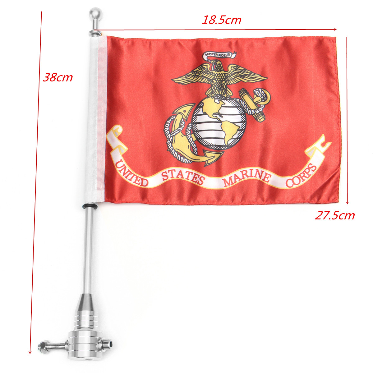 Universal Motorcycle Scooter Bike Rack Flag Pole Mount For Harley 7.28