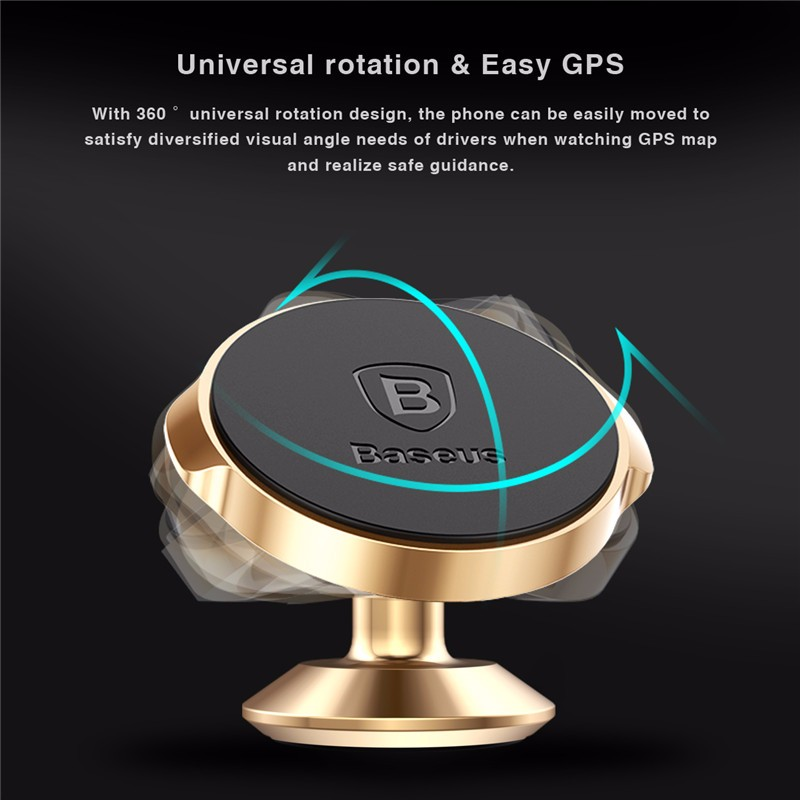 Beseus Samll Ears Series 360 Degreen Rotation Magnetic Bracket Car Mount Phone Stand for Smartphone