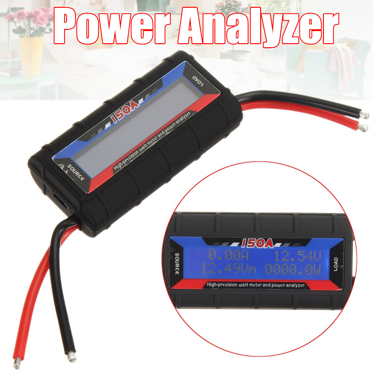 Power Watt Amp Meter for Wind or Solar 150amp Power Analyser Heavy Duty Type