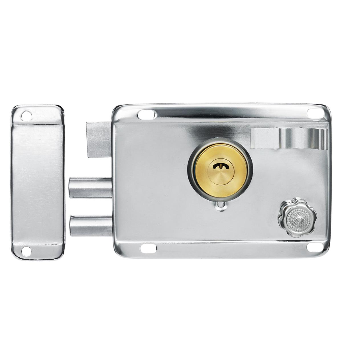 Exterior Iron Door Locks Security Anti-theft Lock Multiple Insurance Lock Wood Gate Lock For Furniture Hardware