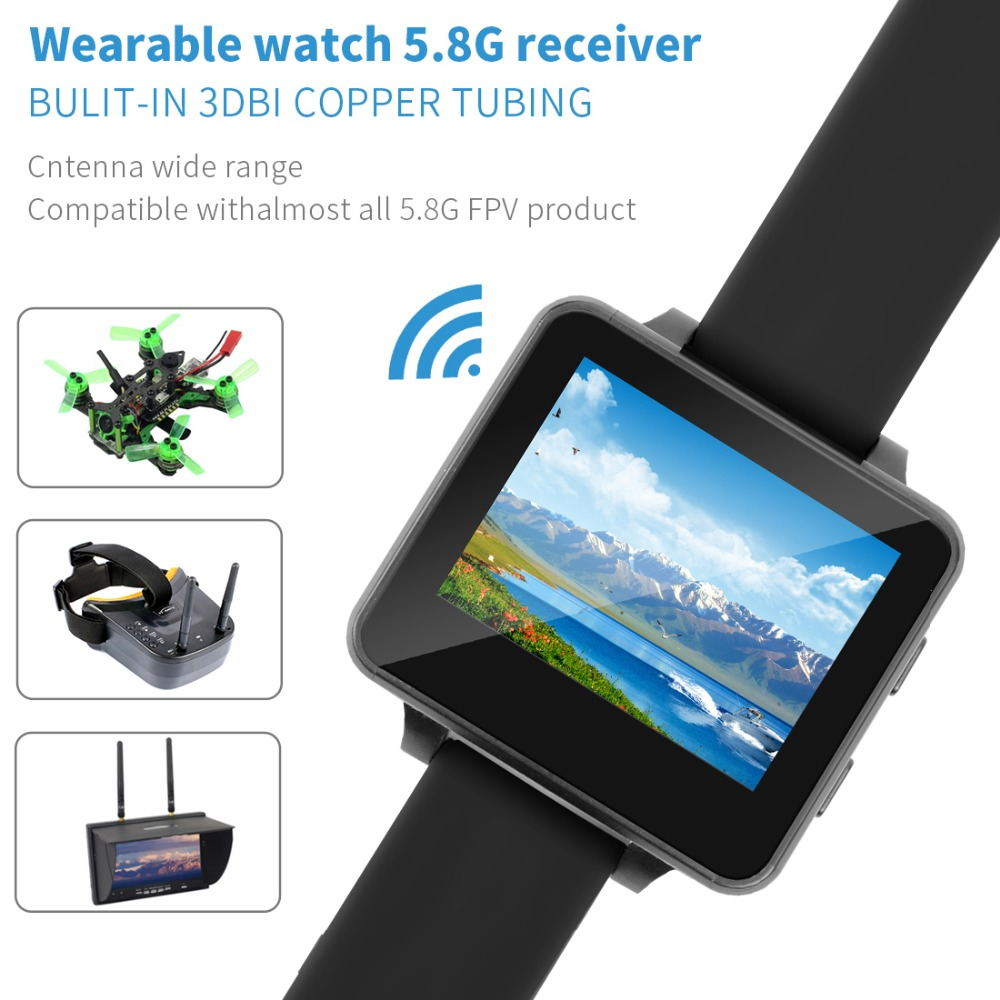 "200RC FPV Wearable Watch 2"" LCD 5.8G 40Ch FPV Monitor Wireless Receiver Watch LCD Display for FPV RC Drone - Photo: 3"