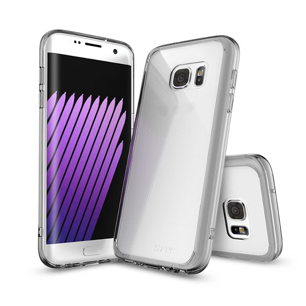 Fall Resistant Thicken Frame Hybrid TPU & PC Transparent Hard Back Case for Samsung Galaxy S7 G9300