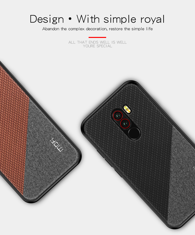 Mofi Shockproof Anti-slip Silicone Back Cover Protective Case for Xiaomi Pocophone F1