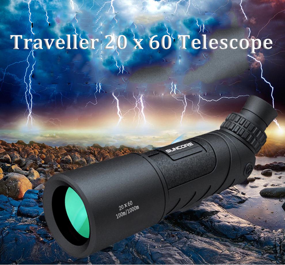 IPRee 20x60/16x52 Traveller Monocular HD Telescope Optic Lens Bird Watching High Definition View Eyepiece