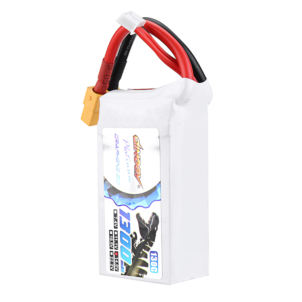 DINOGY ULTRA GRAPHENE 2.0 14.8V 1300mAh 130C 4S Lipo Battery XT60 Plug for FPV RC Drone - Photo: 3