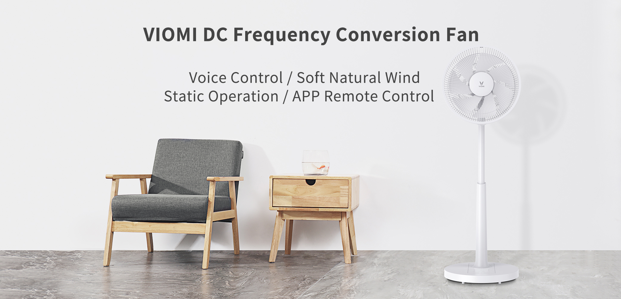 VIOMI DC Inverter Fan Mute Energy Saving Smart Remote Control Stand Fan with APP & Voice Control