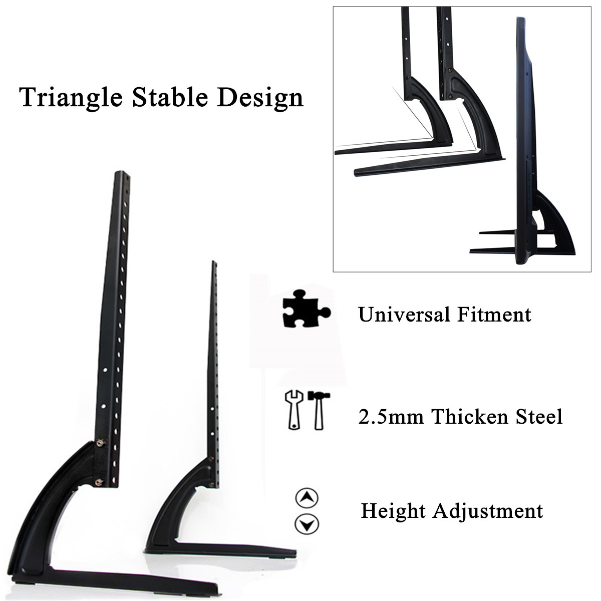 Universal Table Top TV Stand Legs for LED LCD Plasma Flat Screen TV 26-65inch